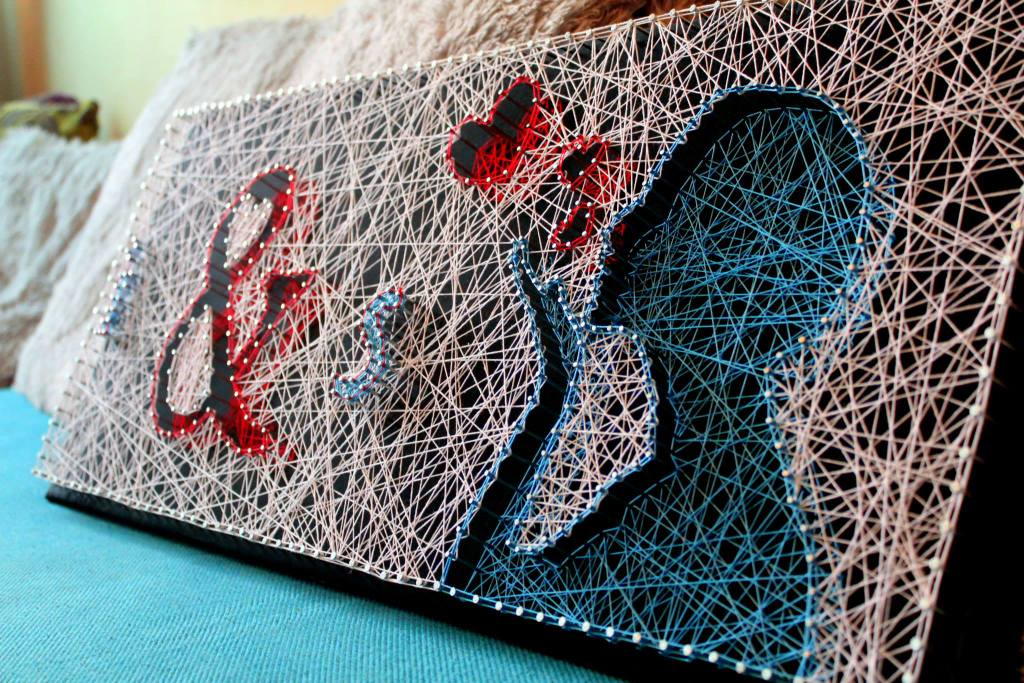 string-art1 Как сделать объемную картину из гвоздей и ниток своими руками