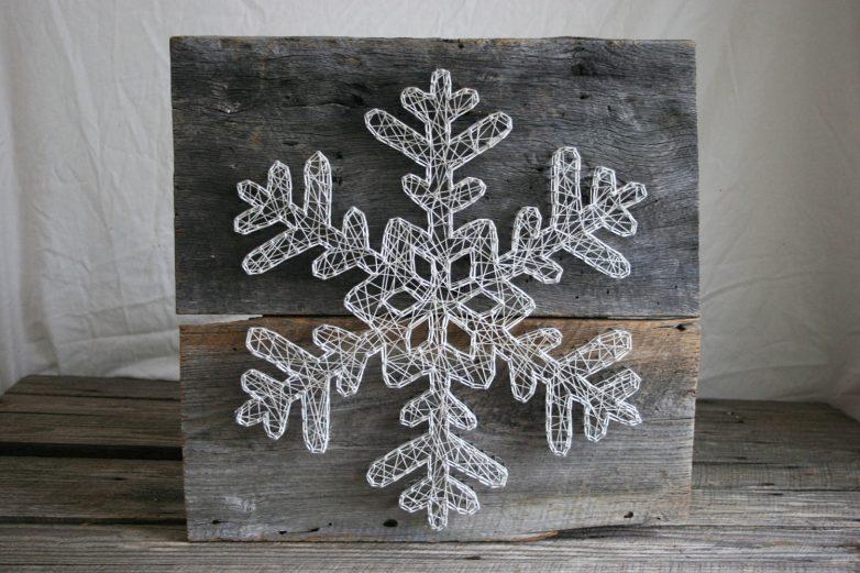 Картина снежинка