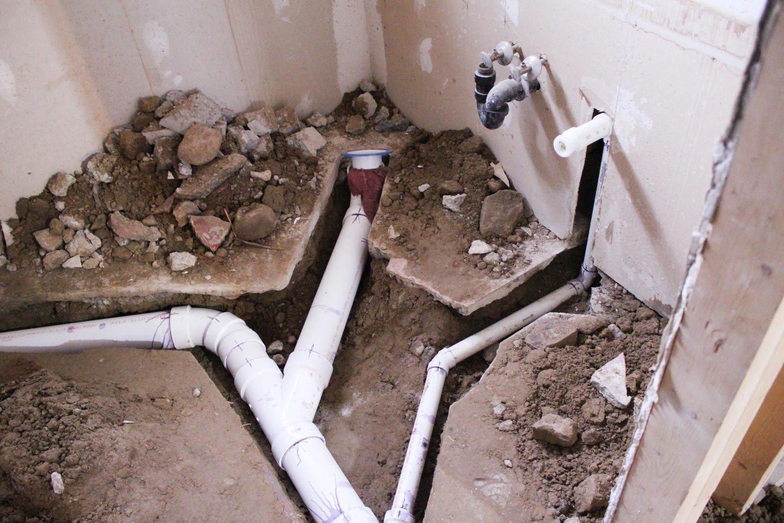 Прокладка трубопровода канализации