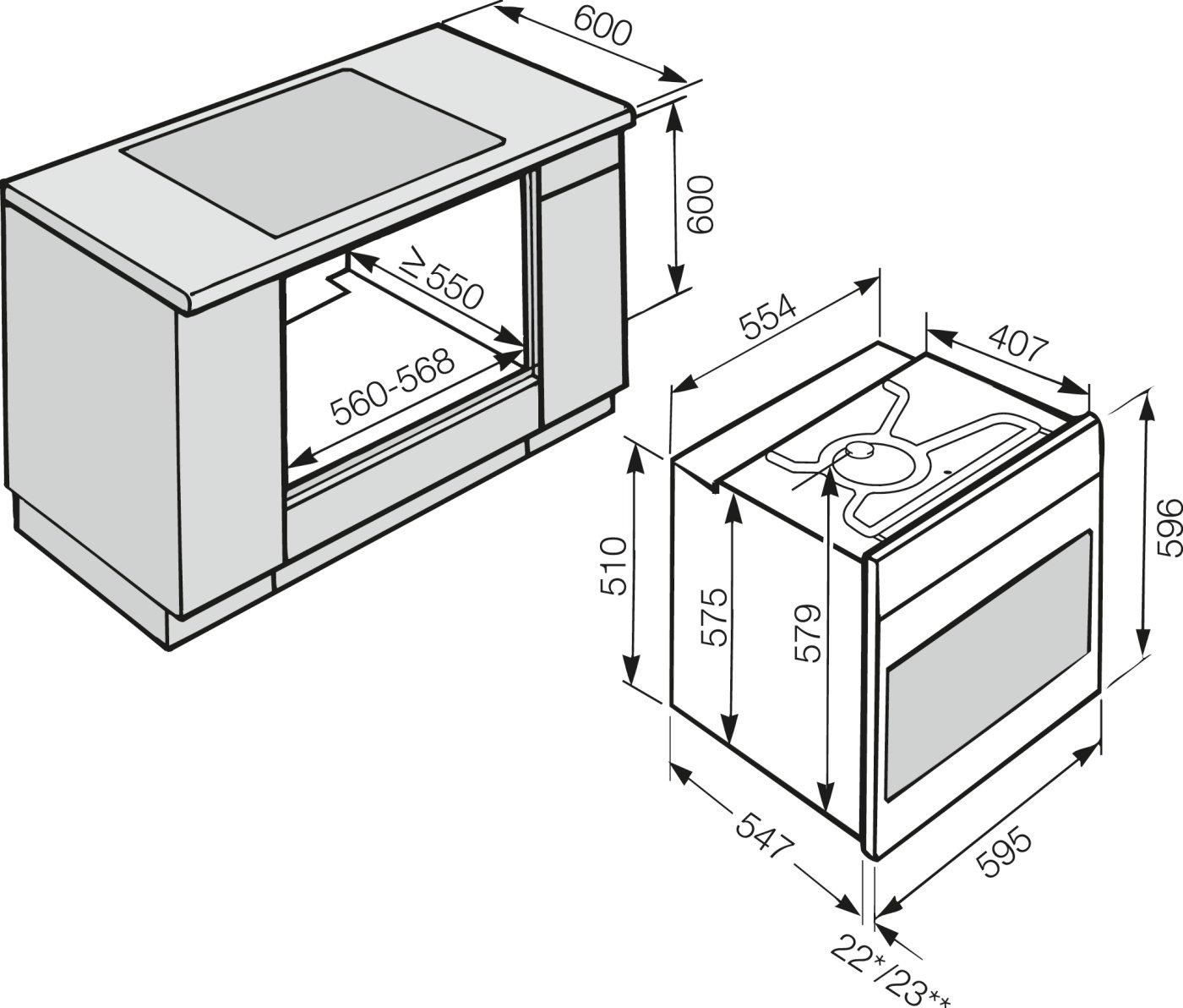 Схема установки духового шкафа