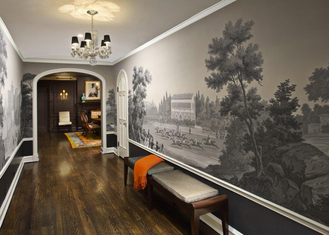 дизайн коридора с применением обоев и фотообоев прекрасного