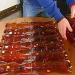 Делаем основание из 4 блоков по 6 бутылок