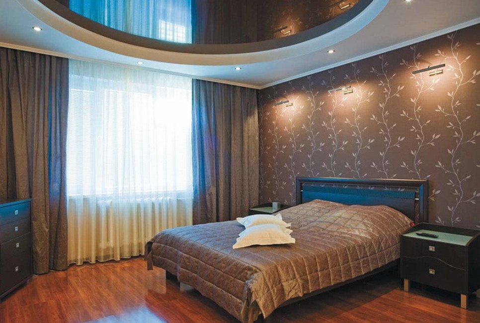 смотреть натяжные потолки фото в спальне как обещал, фотка
