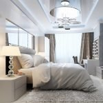 Зеркало с лампочками в спальне