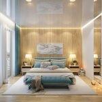 Стеновые панели из дерева в спальне