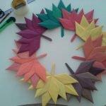 Осенний венок из бумаги