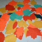 Вырезаем листочки из фетра