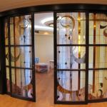 Витражные радиусные двери