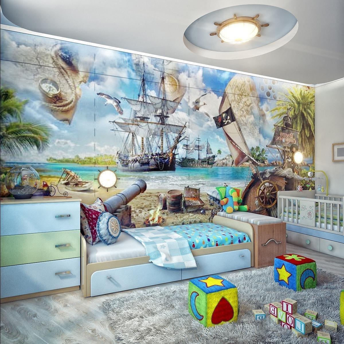 Комната для мальчика с обоями