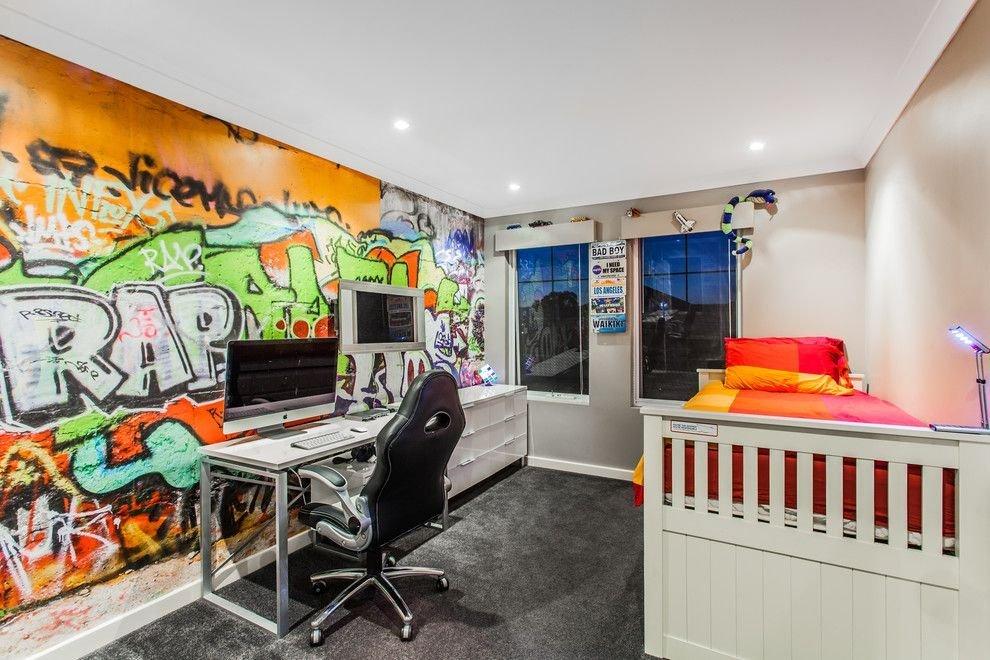 Граффити в комнате для мальчика