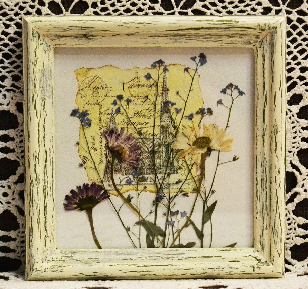 Композиции из сухих цветов и листьев