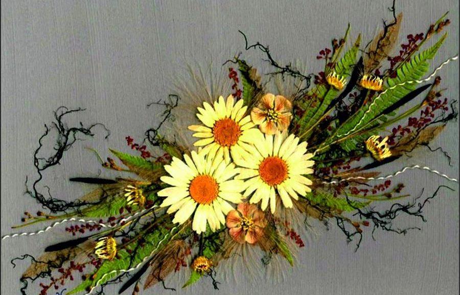 Панно из сухоцветов