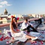 Влюбленные на крыше