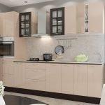 Кухонная мебель с фасадом цвета капучино