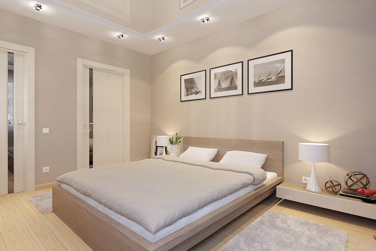 Цвет капучино в спальне