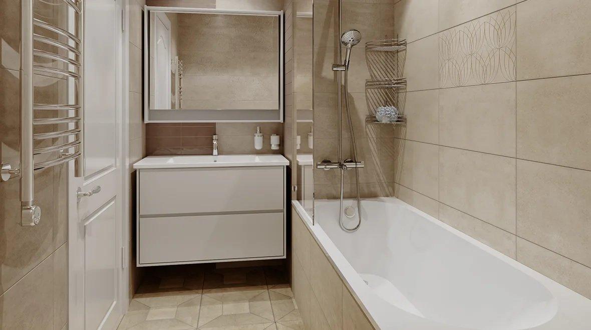 Цвет капучино в ванной