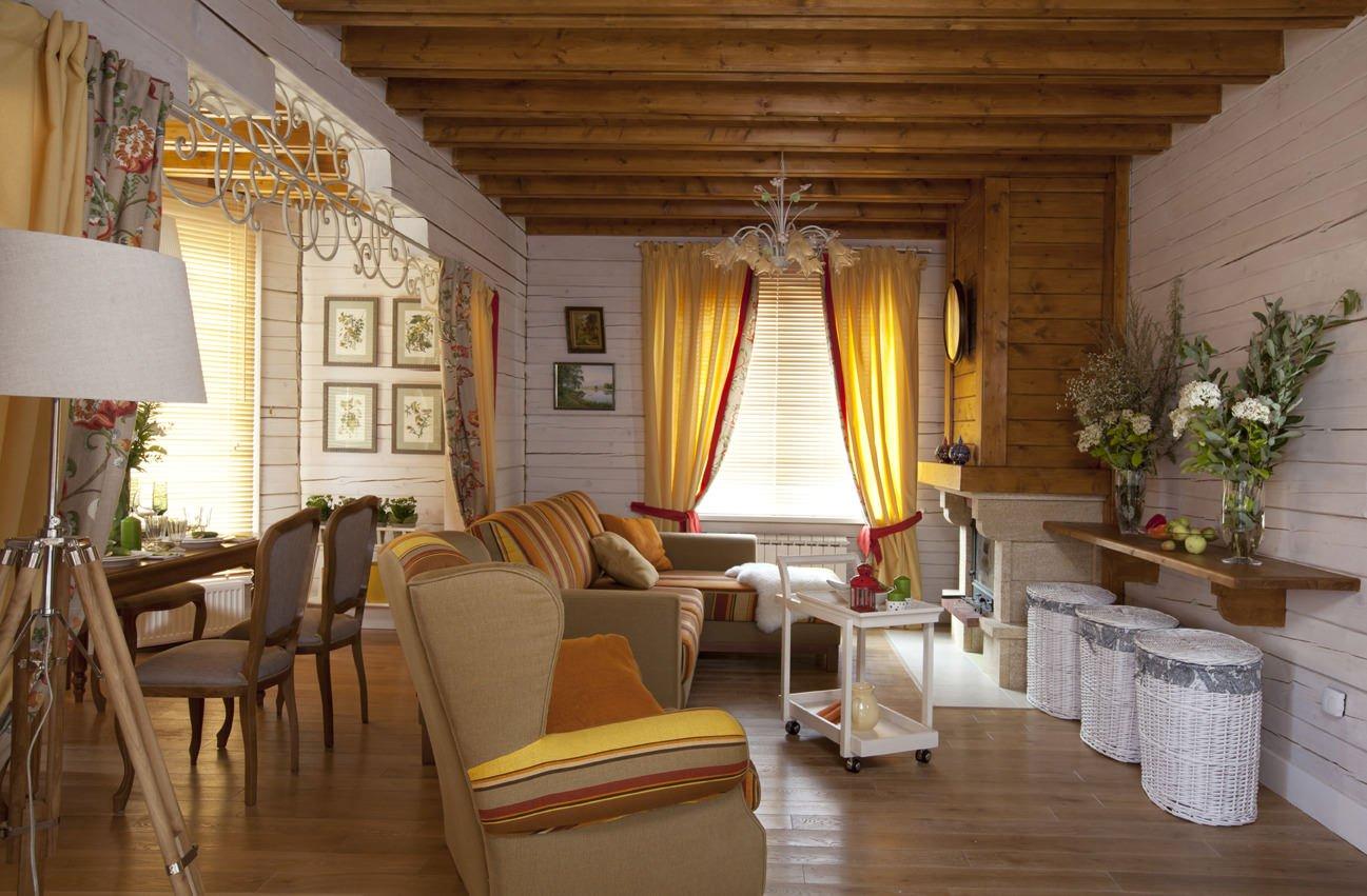 Пол из дерева в интерьере в стиле прованс