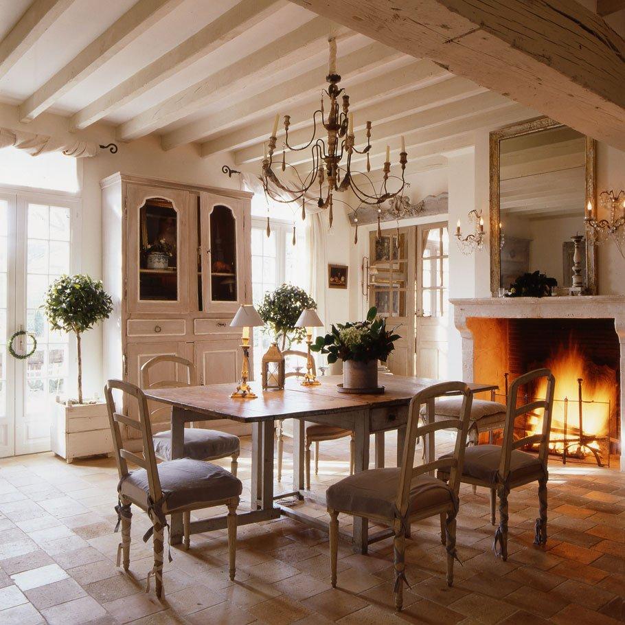 Освещение интерьера в стиле прованс