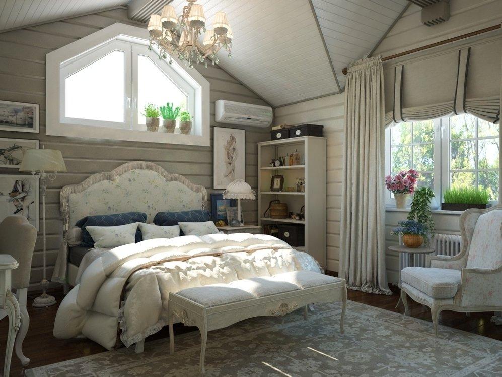 Спальня в доме в стиле прованс