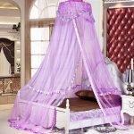 Фиолетовая ткань для балдахина