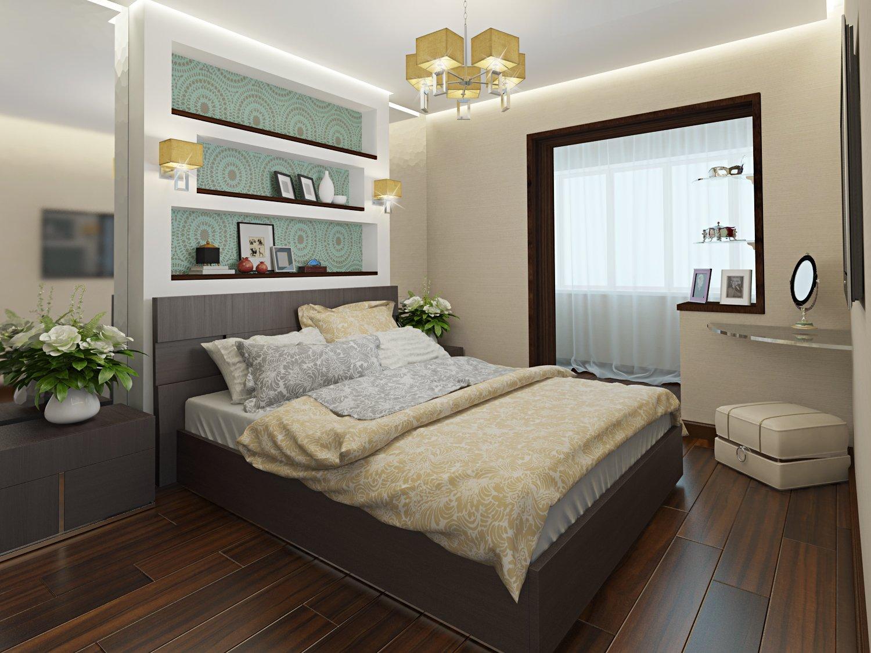 Дизайн спальни с балконом в квартире фото