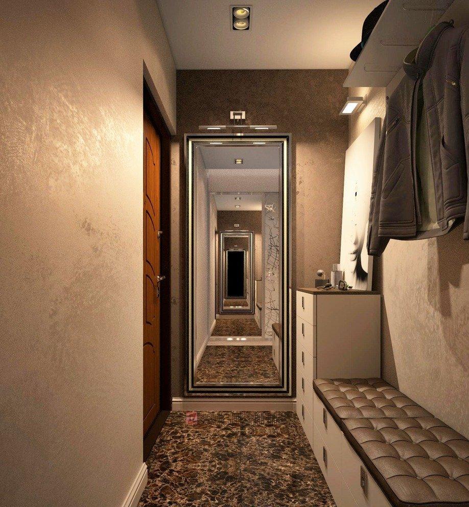 прихожая для узкого коридора дизайн фото всего