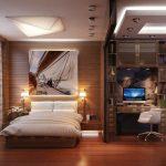 Кабинет и спальня