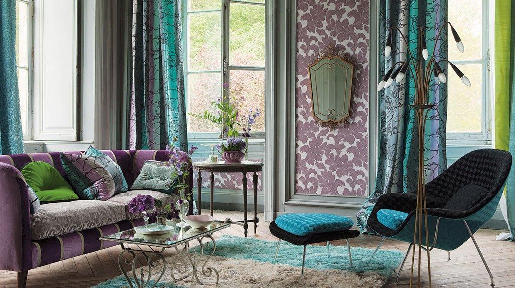 Фиолетовый с бирюзовым