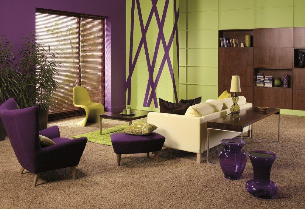 Фиолетовый и зеленый