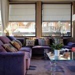 Фиолетовый большой диван