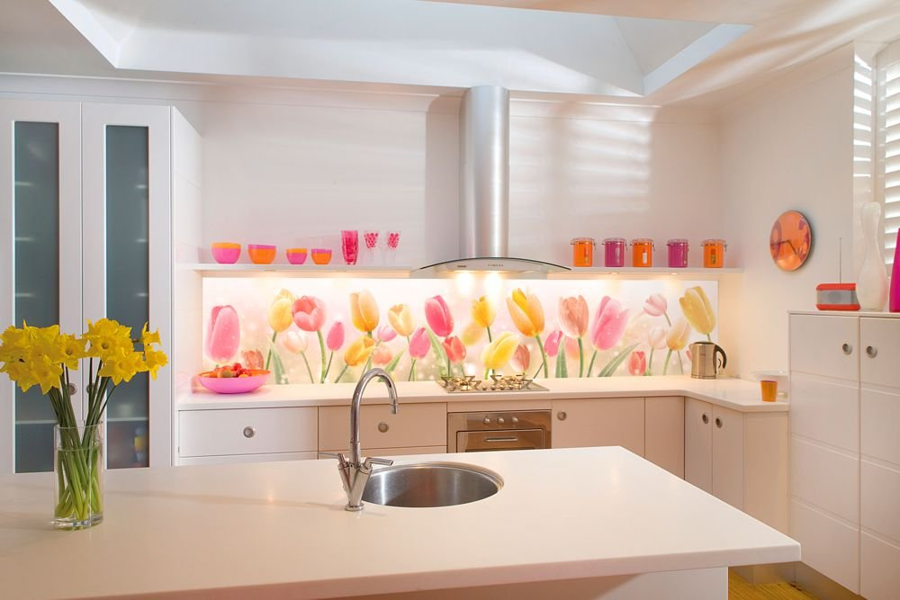Кухонный фартук без навесных шкафов