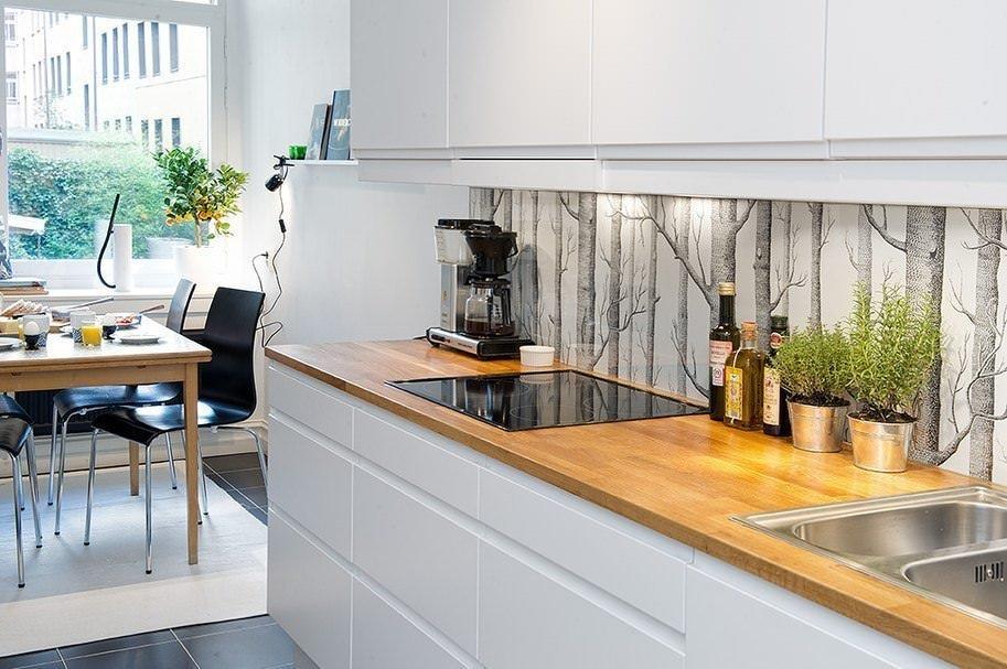 Кухонный фартук в стиле модерн