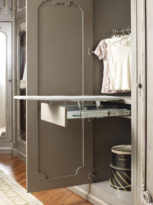 Конструкция гладильной доски встроенной в шкаф