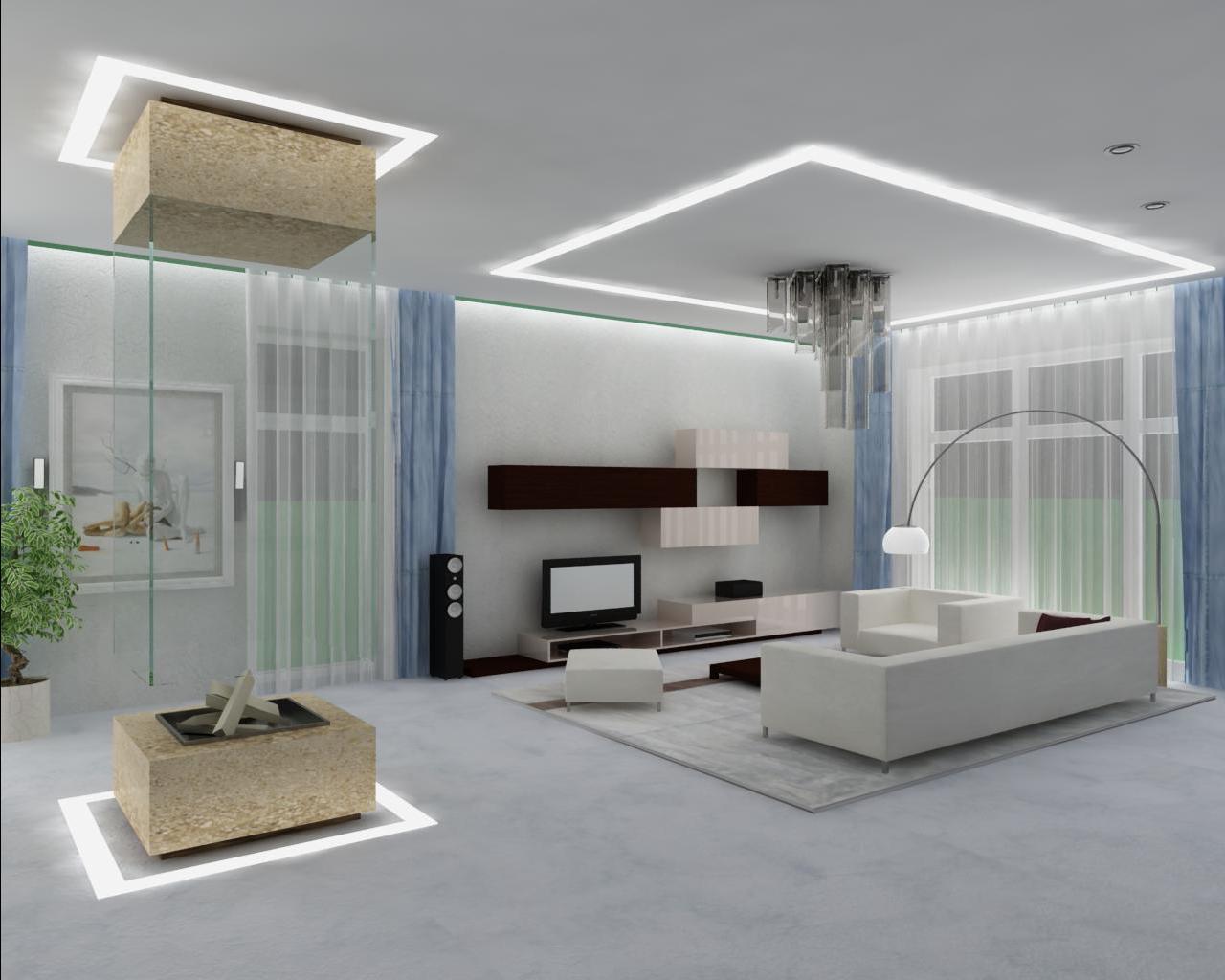 внешне крупнее потолок хай тек фото модели