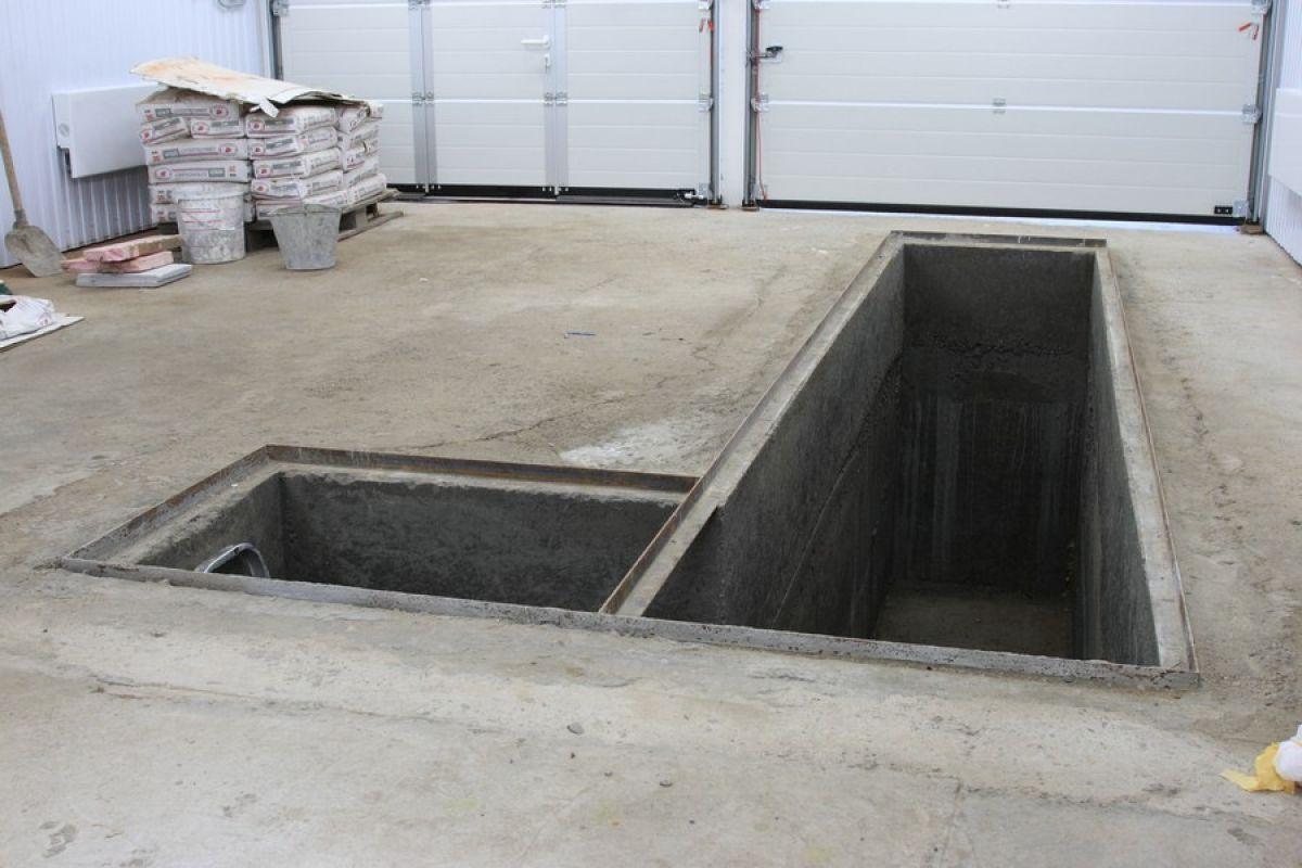 фото каркас гаража с ямой пожалуй
