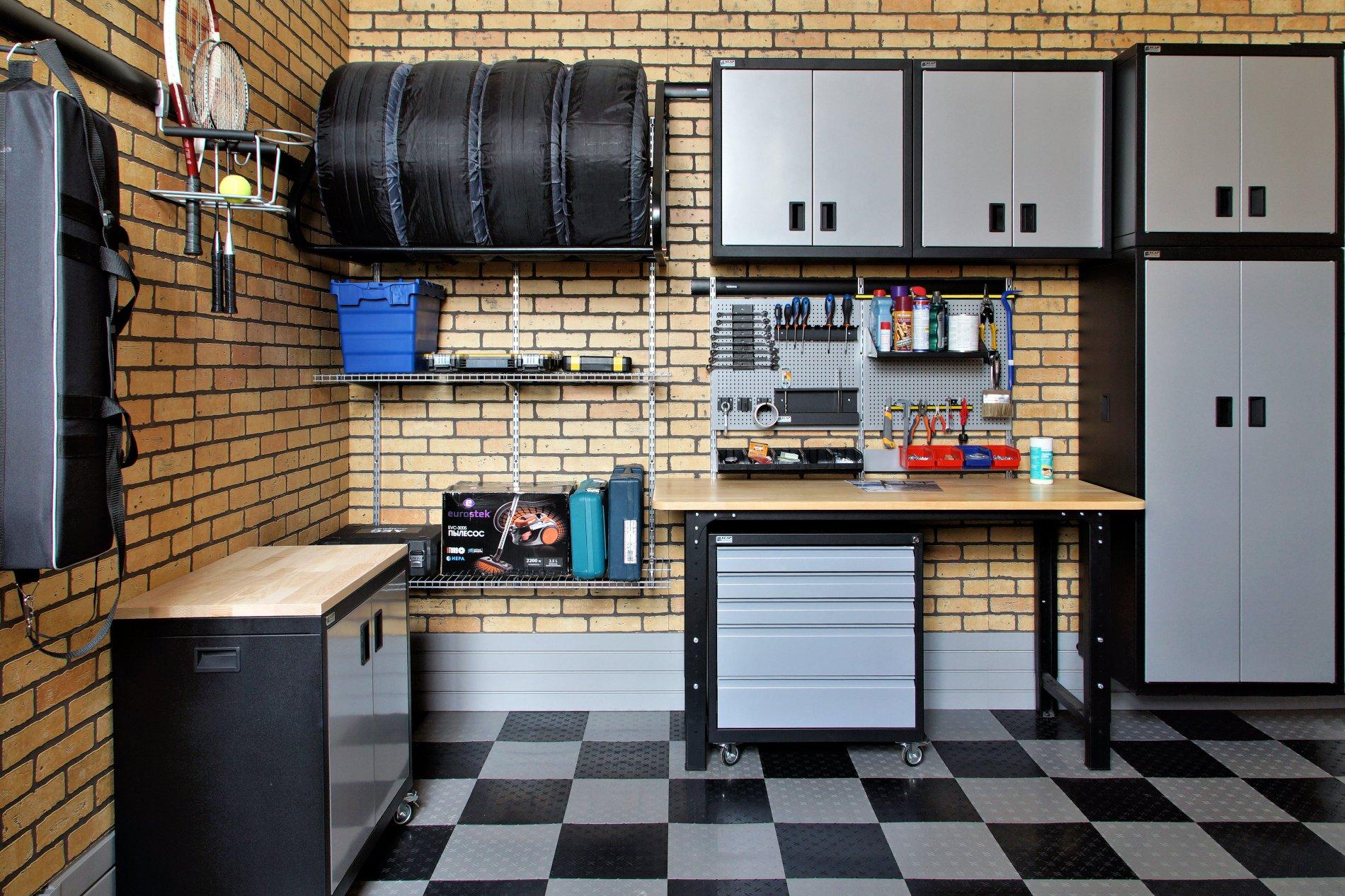 Как оборудовать гараж внутри фото