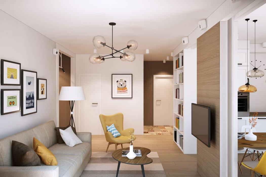 Напольная лампа в гостиной