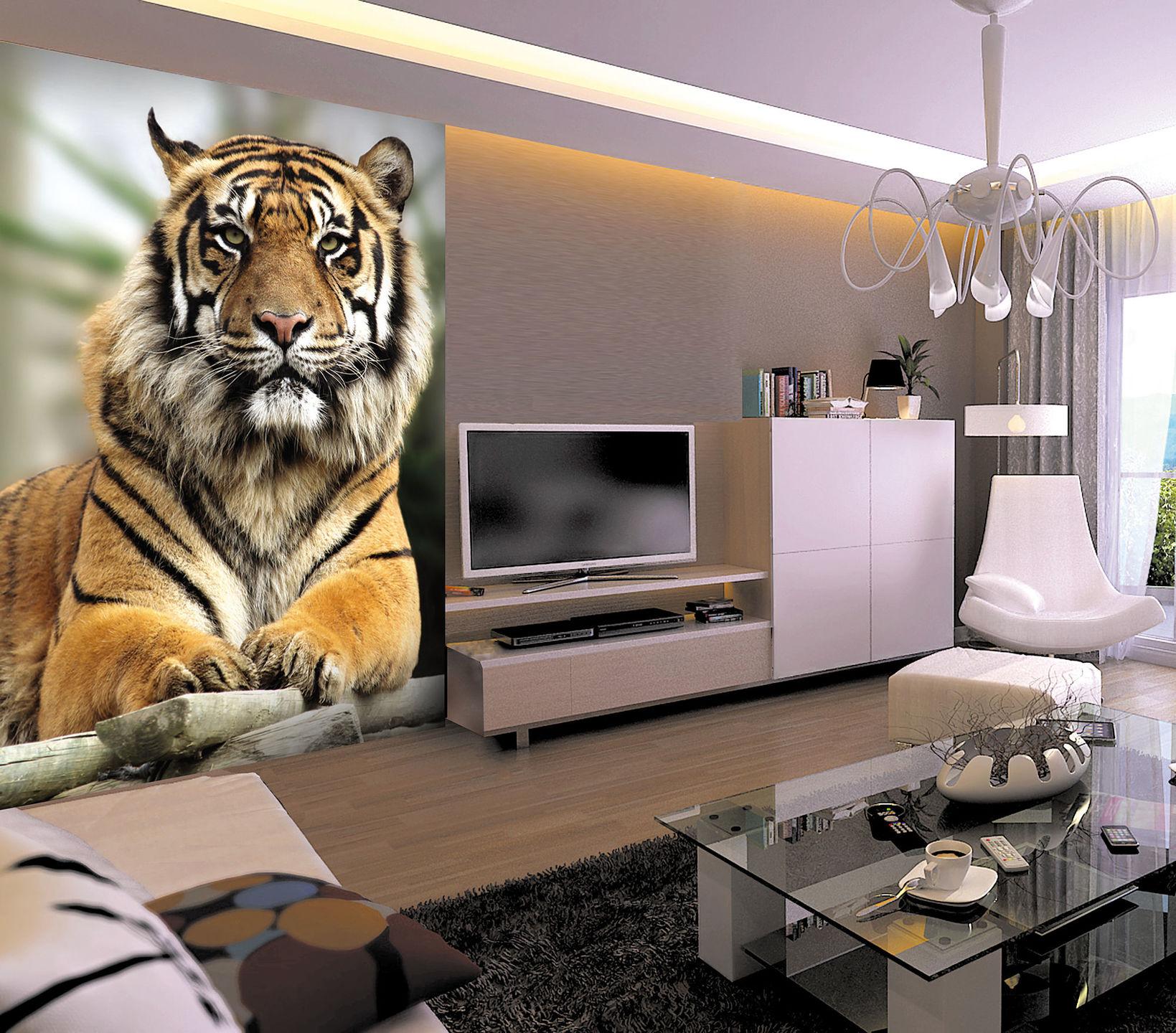 картинки на стену тигр рисунок вазы фруктами