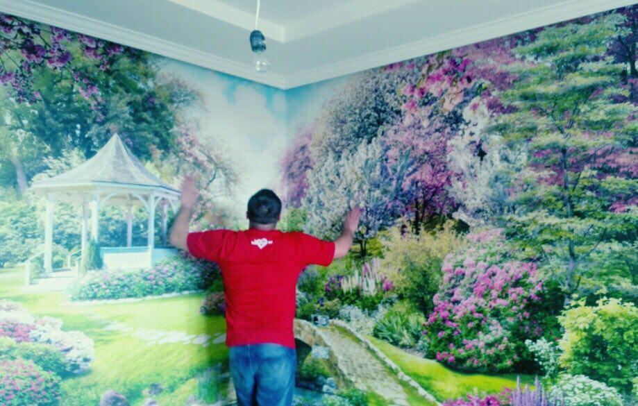 Фотопечать на стене модные идеи для гостиной вопросы или