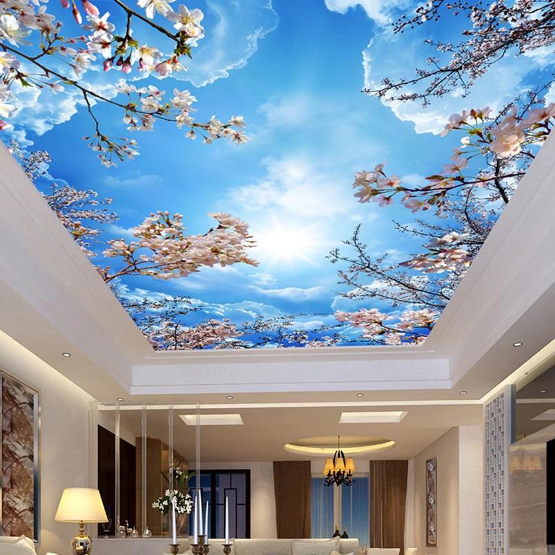 Натяжные потолки с картинками