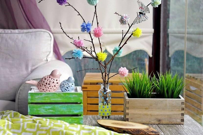 Весеннее оформление комнаты