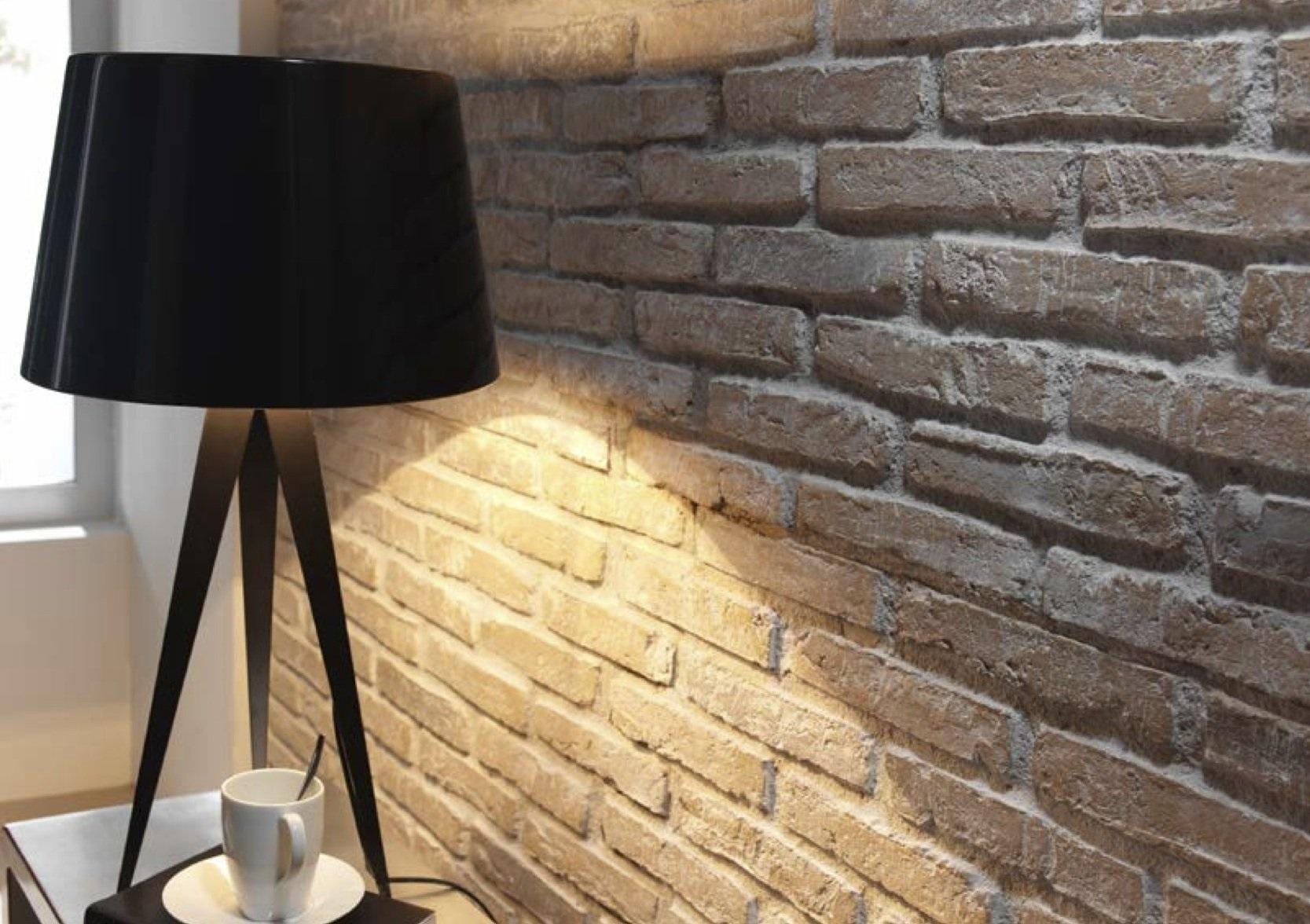 Стеновые панели под кирпич в инерьере