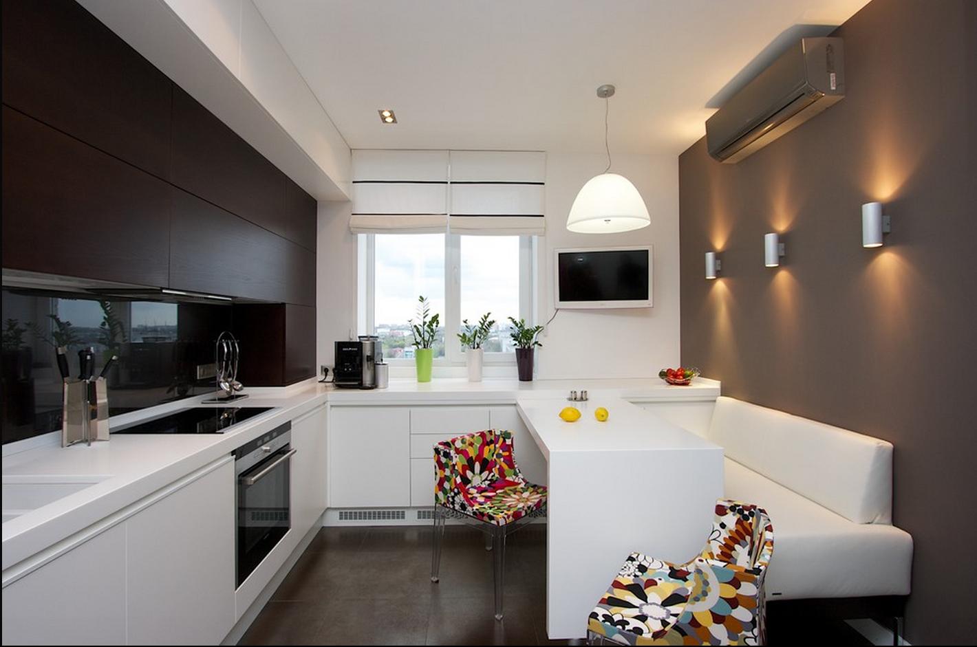 Освещение кухни 12 кв м