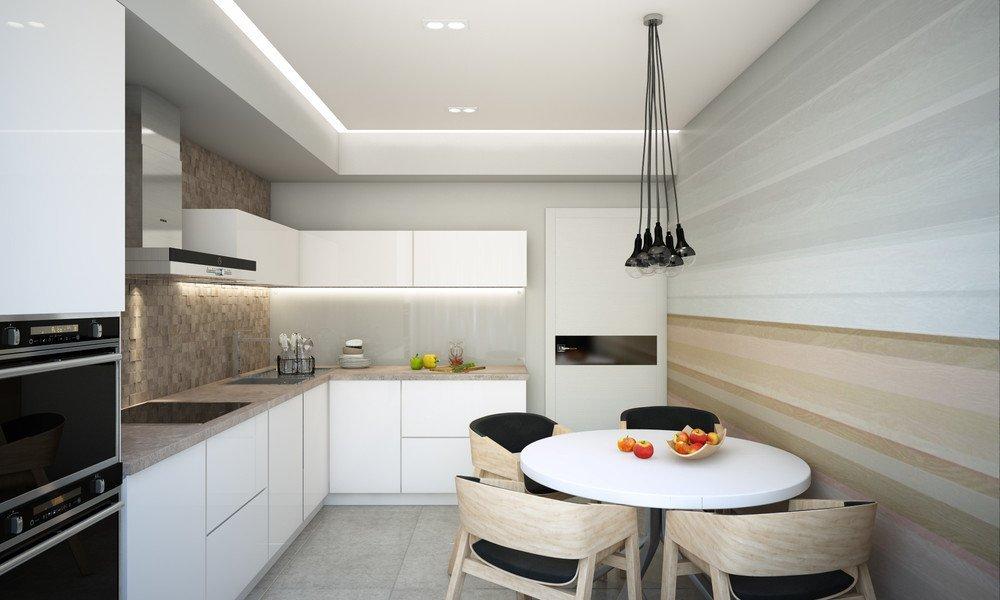 Кухня 12 кв м в современном стиле