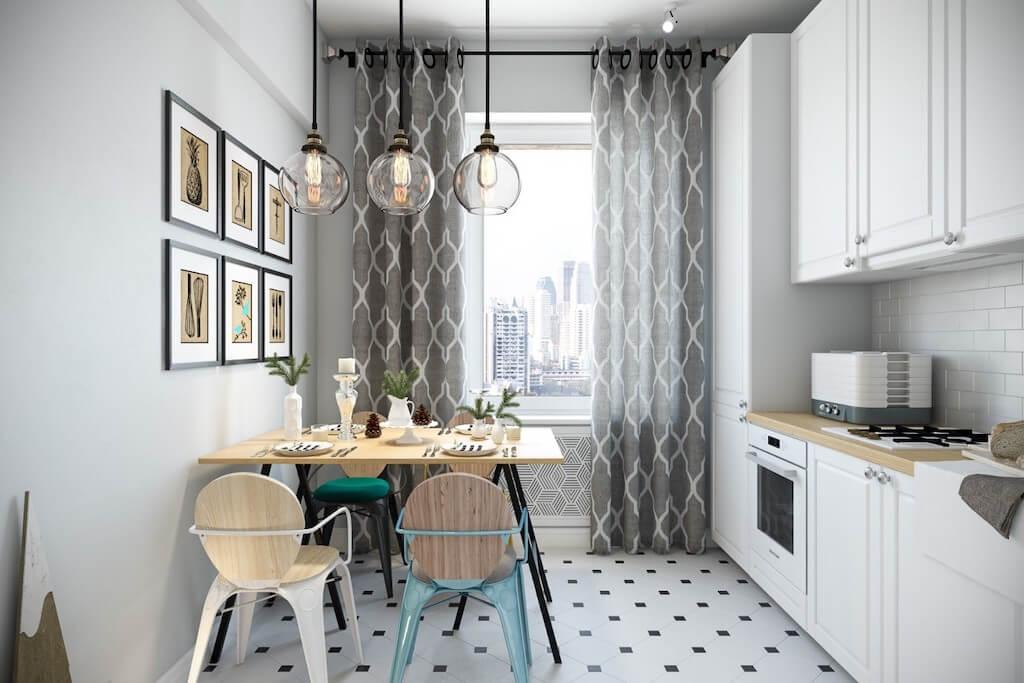 Кухня 12 кв м в скандинавском стиле