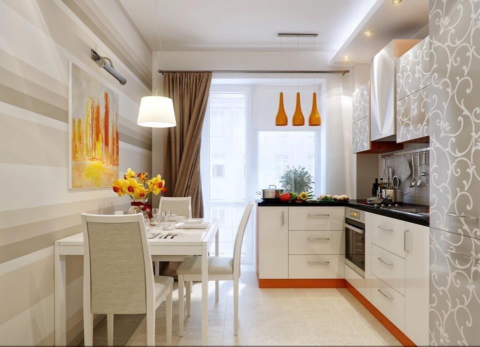 Кухня 12 кв м с балконом