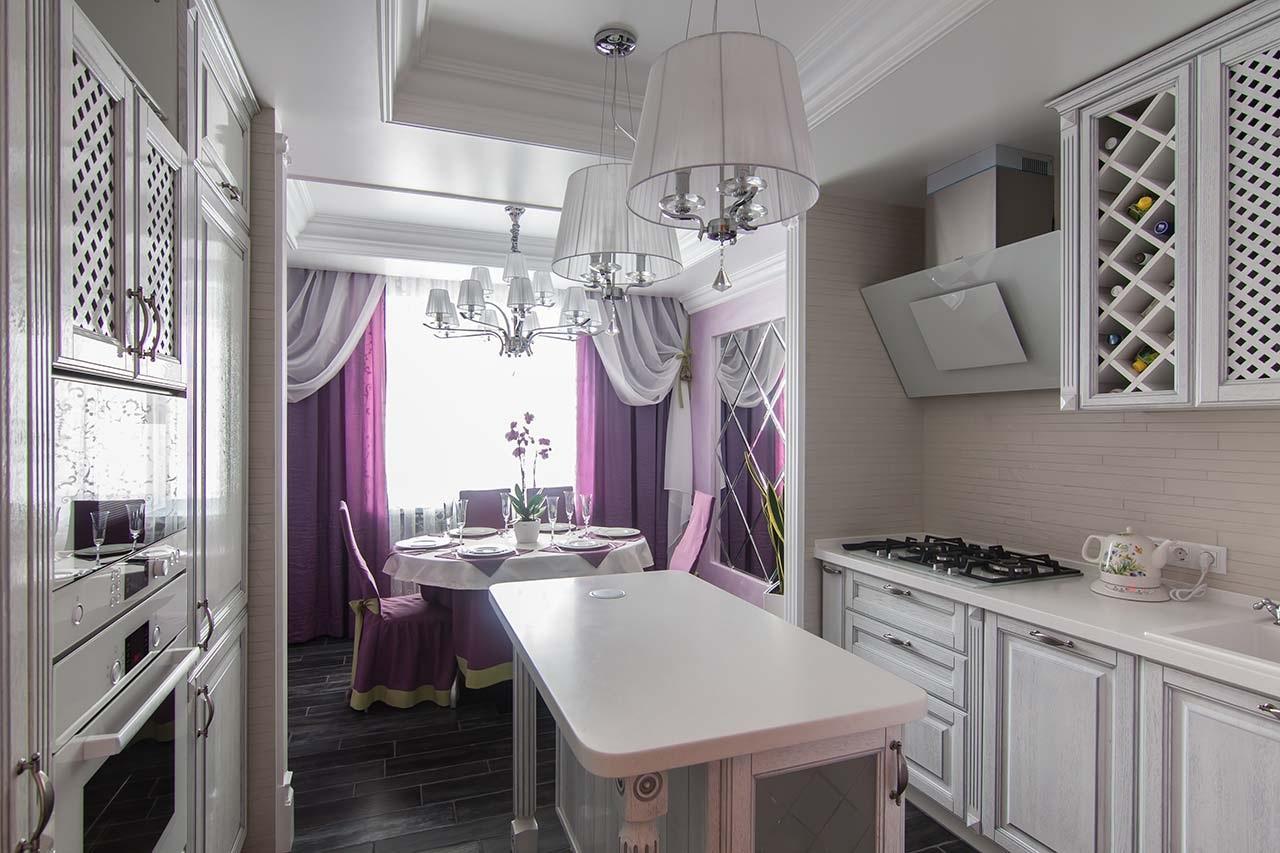 Кухня 12 кв м в классическом стиле