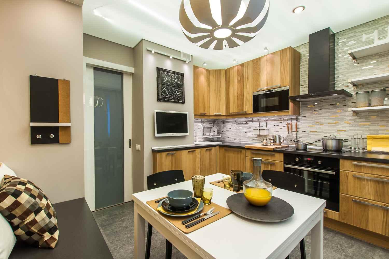 Расстановка мебели на кухне 12 кв м