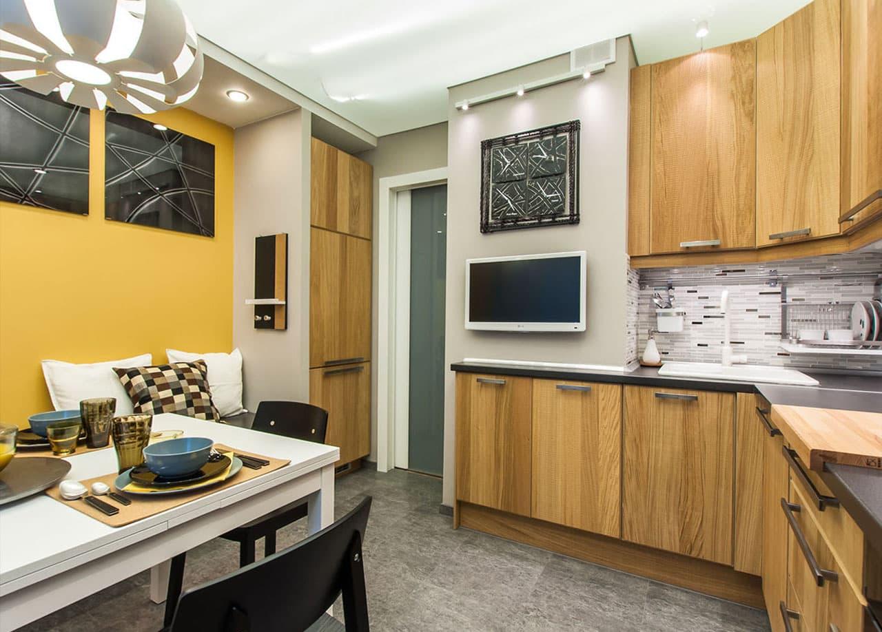 Телевизор на кухне 12 кв м