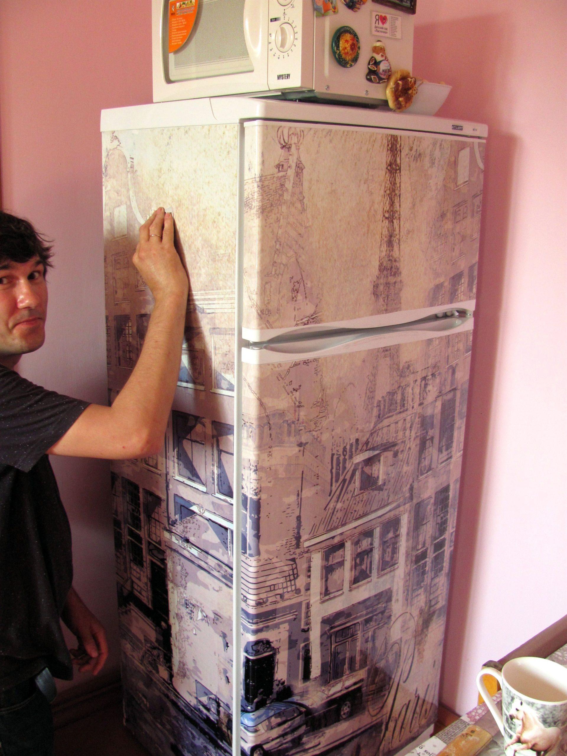 левой части как можно обклеить холодильник фото ознакомиться типовые
